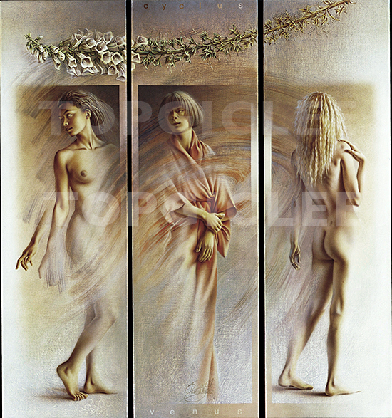 Poen de Wijs, 3 Graces, Folding Screen