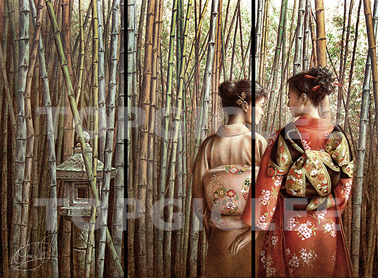 Poen de Wijs, Japanse Garden, Folding Screen